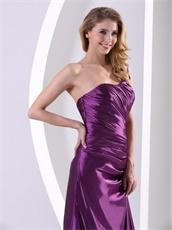 Exciting Eggplant Purple One Shoulder Decent Evening Dress Custom Fit Free