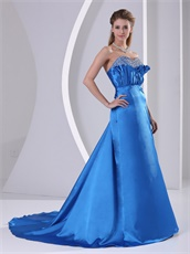 Decent Sky Blue Empire Plicated Formal Military Dress Send Picture To Customized