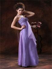 Lavender Halter Empire Split Prom Dress For University Party Girl Prefer