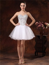 Fully Crystals Rhinestone Bodice Stage Show Short Prom Dress