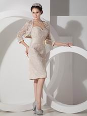 Champagne Lace Mother Of The Bride Dress And Jacket