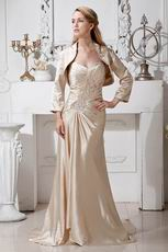 Champagne Mother Of The Bride Dress And Jacket