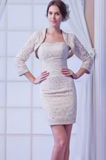 2013 New Fahison Champagne Short Lace Prom Dress With Jacket