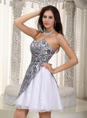 Sweetheart Mini-length Zebra Prom Dress For Girl Sexy Unique