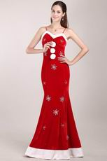 New Arrival White and Red Mermaid 2014 Spring Celebrity Dress