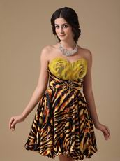 Designer Tiger Printed Fabric Sexy Sweet 16 Dress For Cheap