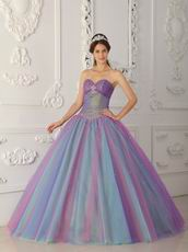 Multi-color Princess Quinceanera Dress To Stage Performance