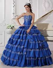 Beautiful Styles Royal Blue Top Designer Quinceanera Dress
