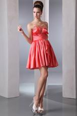 Lovely Beaded Coral Dress To Wear For Graduation