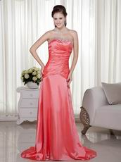 Custom Fit Beaded Watermelon Prom Dress For 2014
