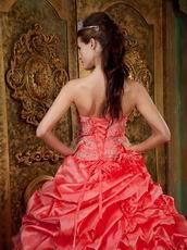 Watermelon Unique Layers Skirt Quinceanera Designer Dress
