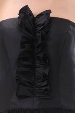 Modest Floor Length Skirt Black Quinceanera Dress