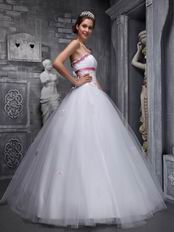 Elegant Strapless White Quinceanera Dress For Discount