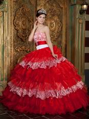 Zebra And Red Layers Skirt Winter Wear Quinceanera Dress
