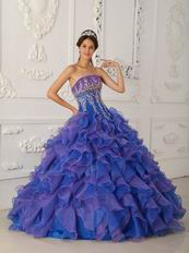 Contrast Color Ruffled Skirt Quinceanera Dress Cheap Price
