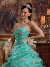 Top Designer Lists For Turquoise Quinceanera Ball Gown