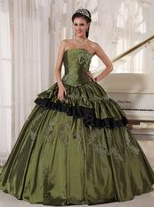 Sweetheart Olive Green Quinceanera Dress Made By Taffeta