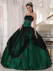 Puffy Floor-length Dark Green Quinceanera Dress In New Trend