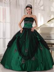 Puffy Floor-length Dark Green Quinceanera Dress In New Trend