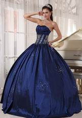 Navy Blue Ball Dress For Military Party In Oregon