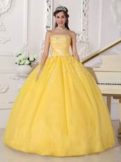 Featured Dama Yellow Quinceanera Ball Dress In Tennessee