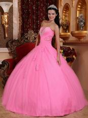 Lovely Pink Floor Length Ball Dress To Winter Quinceanera