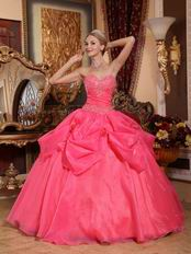 Classical Sweetheart Styles Coral Red Winter Quinceanera Dress