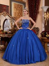 2012 Cerulean Blue Dama Quinceanera Dress For Cheap
