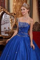 2012 Cerulean Blue Dama Quinceanera Dress For Cheap