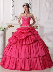 New Style Rose Pink Two Pieces Detachable Quinceanera Gown