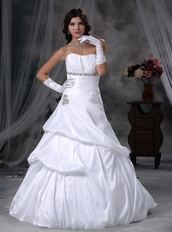 Beautiful Strapless White Puffy Wedding Dress With Bubble Low Price