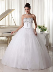 Basque Waist Rhinestones Decorate For Top Seller Wedding Dress Low Price