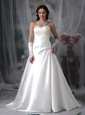 Perfect Sweetheart A-line Stain Wedding Dress Ivory Low Price