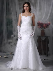 2013 Sweet Straps Destination Wedding Dress With Lace Low Price