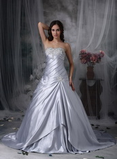 Sweetheart Neck Nice Wedding Dress Made By Silver Stain Low Price