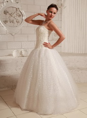 Ball Gown Wedding Dress Floor-length Puffy Skirt With Appliques Low Price