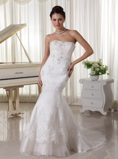 2013 Fashionbale Slim Mermaid Skirt Wedding Dress With Lace Low Price