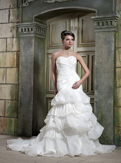 Exclusive Mermaid Sweetheart Bubble Skirt Bridal Dress For Wedding Low Price