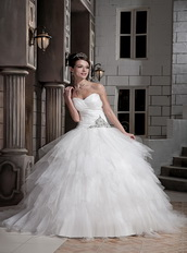 Pretty Princess Ball Gown Sweetheart Cache Bridal Dress Discount Season Low Price