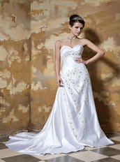 Column Sweetheart Affordable Wedding Dress For Beautiful Women Low Price