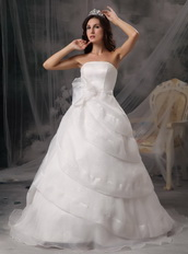 Affordable Long Puffy Wedding Dress With Handcrafted Flowers Low Price