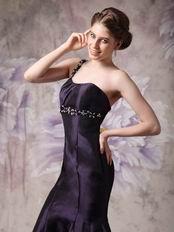 Mermaid Skirt Dark Purple Evening Dress For Woman Wear