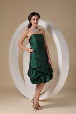 Knee-length Dark Green Woman In Homecoming Dress