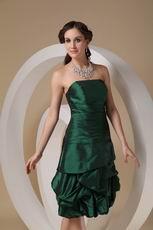 Knee-length Dark Green Woman In Homecoming Dress
