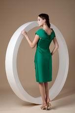 V Neck Dark Green 2014 Homecoming Dress Cheap