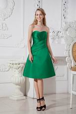 Fresh Green Stain Short Dress For Bridesmaid Under $100