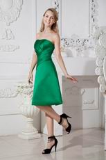 Fresh Green Stain Short Dress For Bridesmaid Under $100