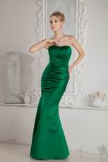 Mermaid Dark Green Evening Stain Dress For La Femme