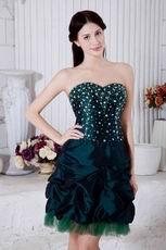 Dark Green Mini Skirt Sweet Sixteen Gowns Discount