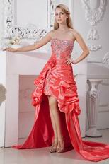 Buy Coral Pink Front Short Back Long Skrit Pageant Prom Dresses